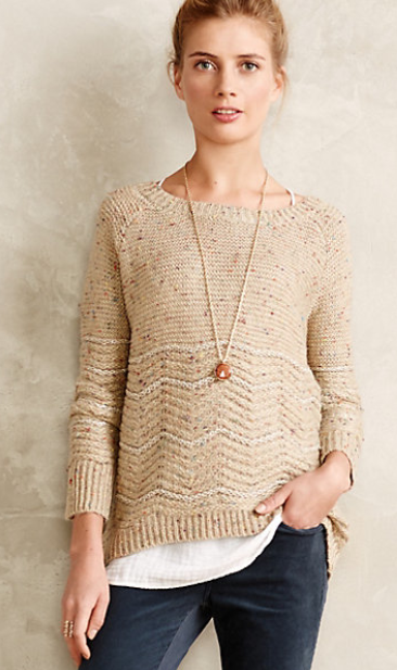 Soft to wear and a bit sparkly, with an elegant neck and sleeves - perfect for Christmas outings with the baby. £98, anthropologie.eu