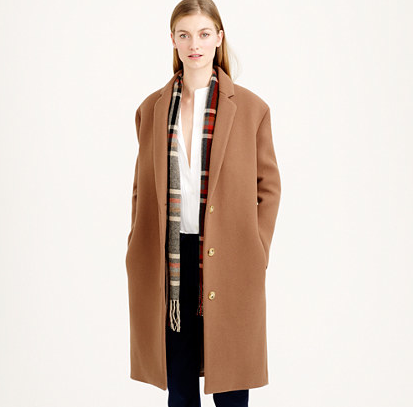 Ok, so you might not want to put a muslin between this topcoat and your baby but throw it over any outfit to feel hip and cosy. £350, www.jcrew.com
