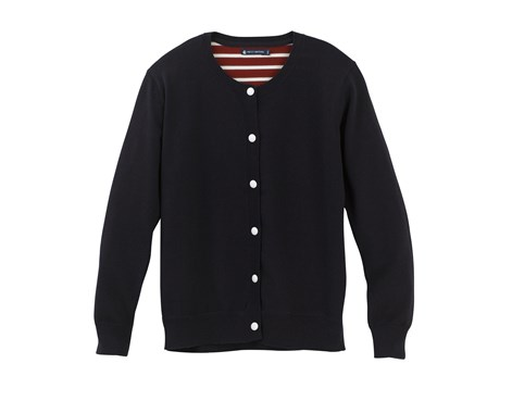 Feel like a French maman in this useful cardigan from Petit Bateau, with anchor engraved buttons and a red and white striped back. www.petit-bateau.co.uk, £120