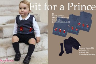 Prince George wore clothes from Cath Kidston and Amaia Kids in official Christmas photographs.