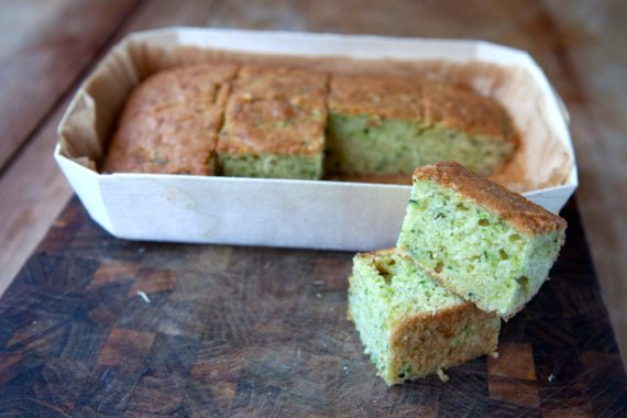 Ned's delicious courgette and lemon cake