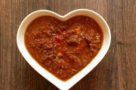 Laura's slow cooked sweet potato chilli