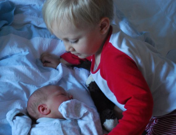 Dougie and his new brother, Theo