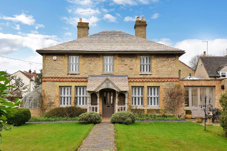 An impressive Victorian Stone villa set in the older part of the popular village of Ryhall, Rutland £750k Agent: Humberts; 01780 758090